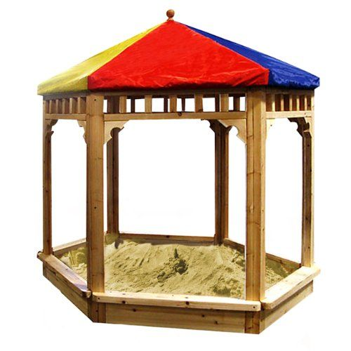 TOPSELLER! New Large Cedar Wood Play Sandbox Sand Box W/ Cover Outdoor Kid Fun $109.95