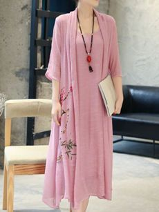 Buy Round Neck  Belt  Floral  Chiffon Maxi Dress online with cheap prices and discover fashion Maxi Dresses at Fashionmia.com.