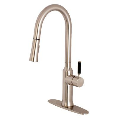 Kingston Brass Kaiser Single Handle Pull Down Kitchen Faucet Finish