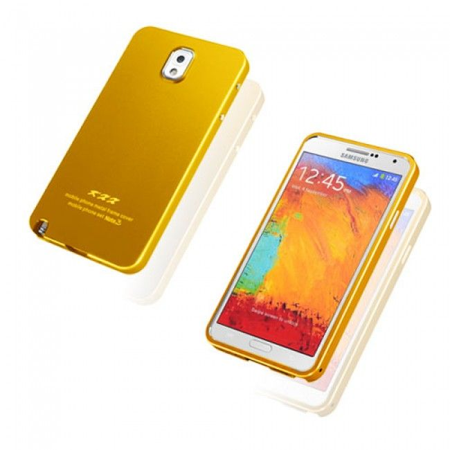 KXX (Kulta) Samsung Galaxy Note 3 Metalli Suojakuori - http://lux-case.fi/catalog/product/view/id/23793/s/kxx-gold-samsung-galaxy-note-3-metal-case/