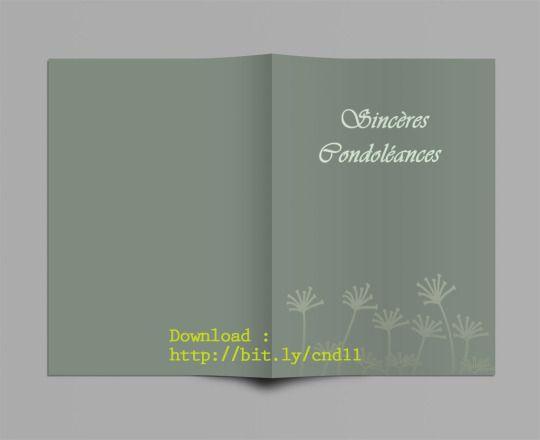 Modèle Carte de Condoleances a Imprimer Gratuit pour MS Word