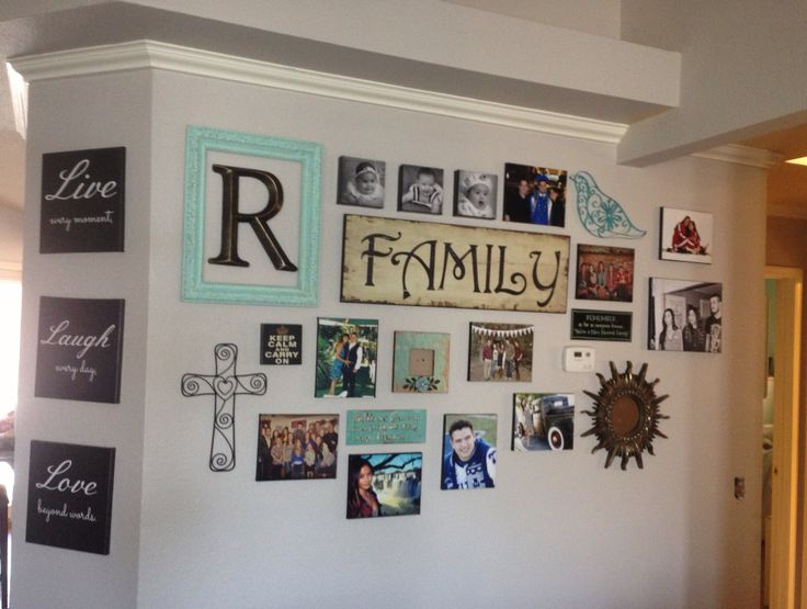 Picture collage picture wall hanging ideas pinterest for Hanging pictures on walls ideas