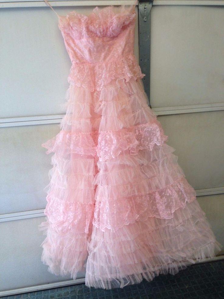 Mejores 2447 imágenes de vintage 50\'s prom dresses & tulle en ...