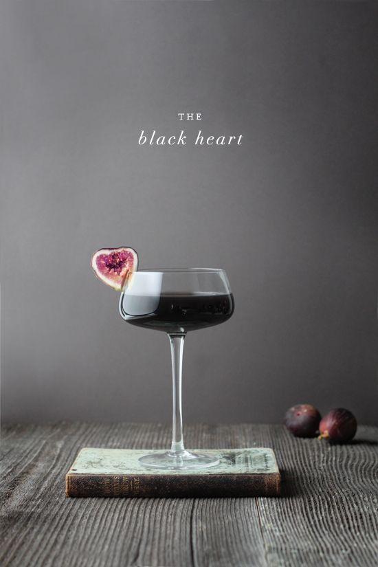 Black Heart - Black Vodka (Blavod), Fig Vodka (Figenza), Creme de Cassis, Dry Vermouth, Black Fig Garnish.