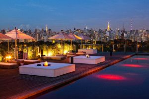 Would love to have a cocktail in the sunset here! Amazing roof top at Hotel Unique in São Paulo