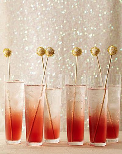New Years Eve Cocktails with Glittery Swizzle Sticks #camillestyles #festive