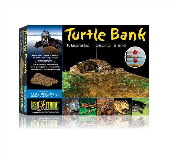 Isla flotante magnetica para tortugas EXOTERRA Exo Terra Turtle Montículo es una parte terrestre flotante única para tortugas acuáticas para asolearse.