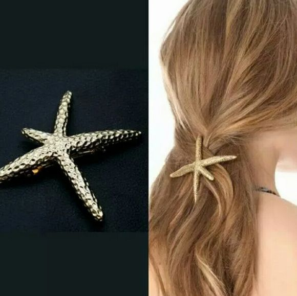 Beautiful Large Star Fish Gold Hair Clip Beautiful Large Hold Starfish Hair Clip Accessories Hair Accessories