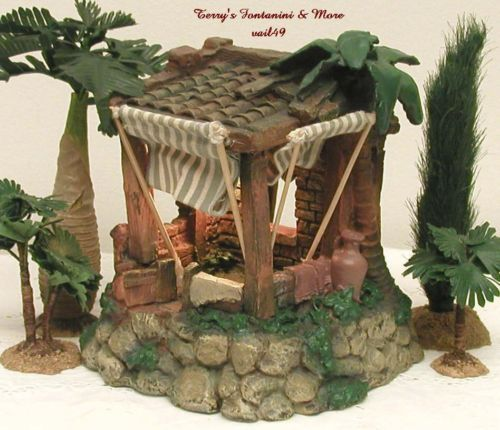 FONTANINI-ITALY-2-5-RETIRED-SHEPHERDS-CAMP-NATIVITY-VILLAGE-BLDG-50162-MIB