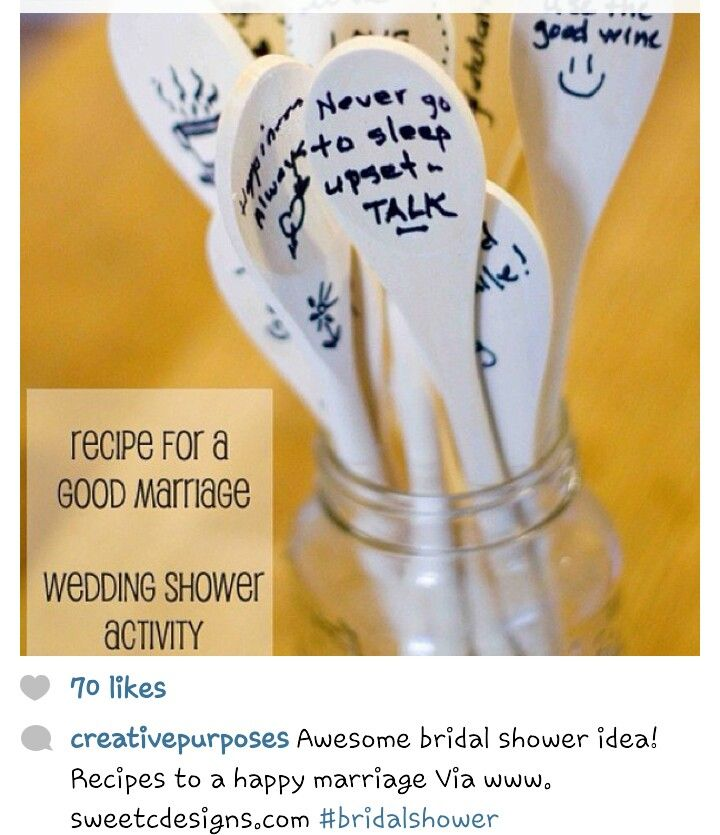 Bridal shower idea-activity when you first show up.