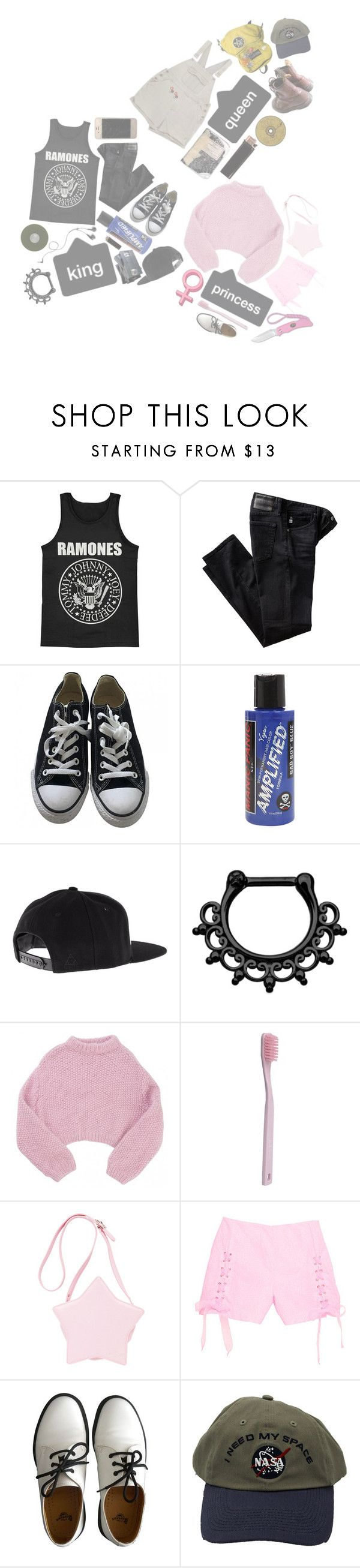 """""""Jen, Halsey n Mel !!"""" by xxanormalalienxx ❤ liked on Polyvore featuring AG Adriano Goldschmied, Converse, Manic Panic NYC, CO, GAS Jeans, Lala Berlin, Paul Smith and Dr. Martens"""
