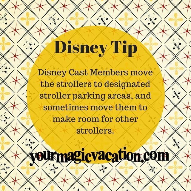Make sure you have something on your stroller to make it easy to identify #DisneyTip