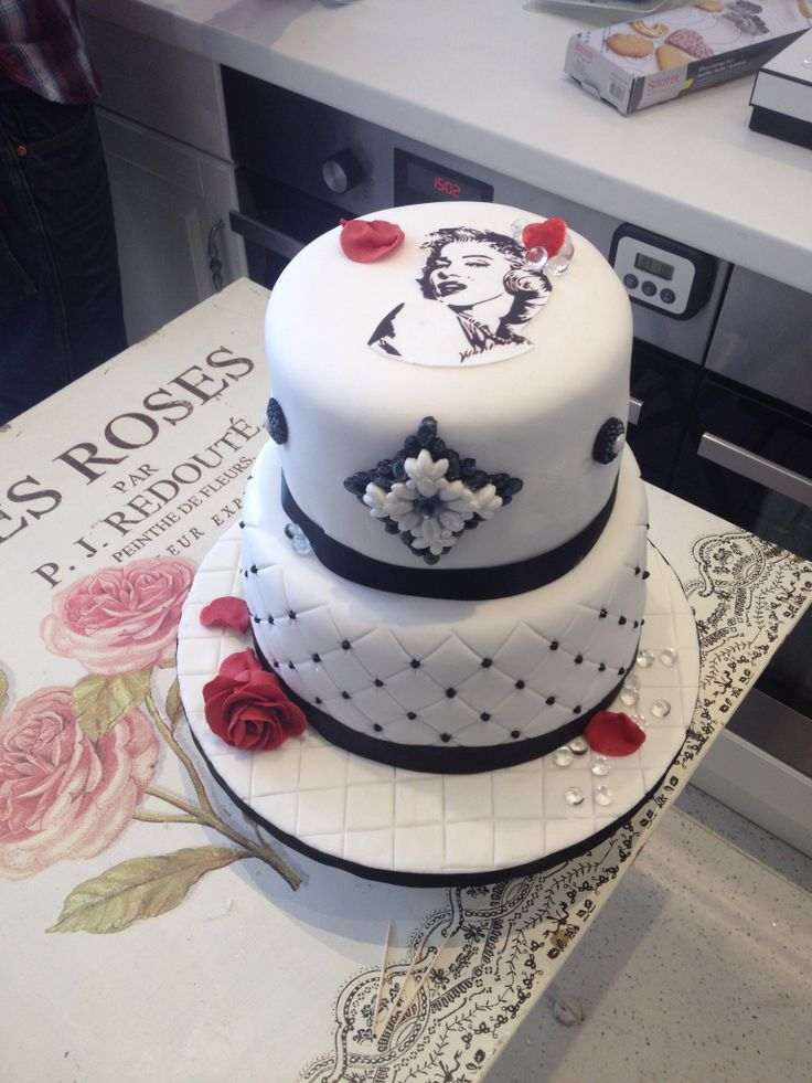 Black And White Birthday Cake Pictures