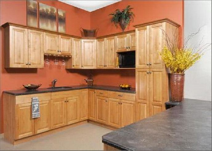 kitchen colors with honey oak cabinets - Google Search
