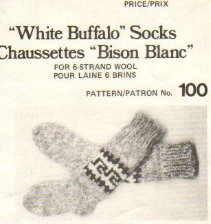 White Buffalo socks, this is a one size pattern, Adjustments are required for larger or smaller sizes.