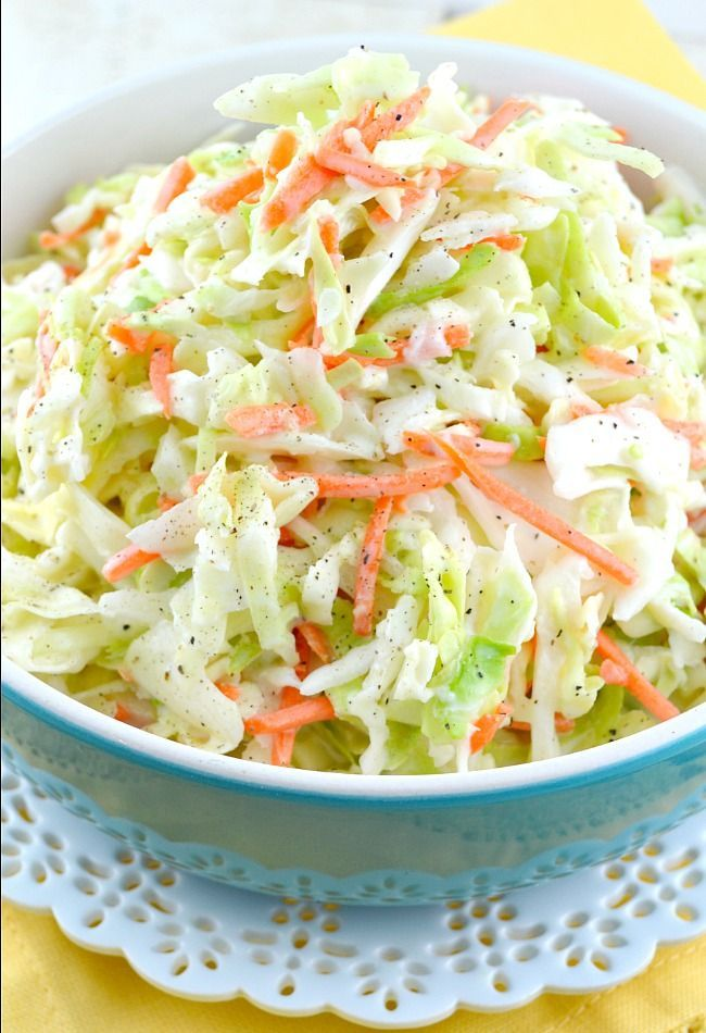 This is an amazing copycat version of the famous KFC Coleslaw Recipe. It's sweet, a little tangy and fabulously creamy! My all-time favorite coleslaw recipe