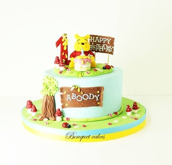 Winnie cake - by BouquetCakes @ CakesDecor.com - cake decorating website