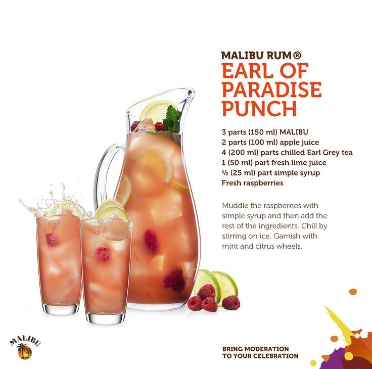 The Malibu Rum Earl Of Paradise Punch.