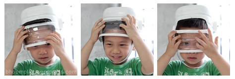 astronaut helmet from water jug? The kids would get such a kick out of wearing these! :)