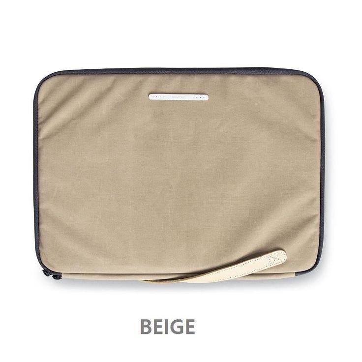 "RAWROW Zipper bag Men Women Casual Hand Bag Laptop Sleeve Case 15"" Pouch BEIGE #RAWROW"