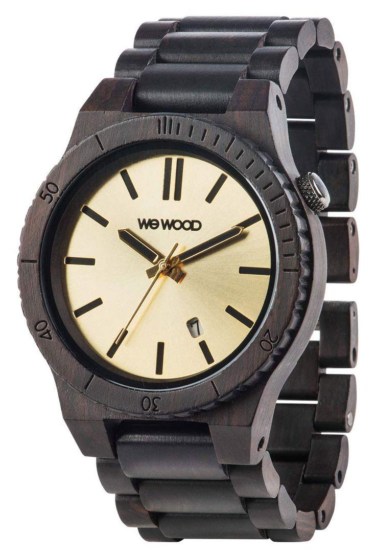 Wewood Holzuhr Herren Armbanduhr WW31003, Miyota Uhrwerk, Grenadil-Holz Uhrengehäuse, Grenadil-Armband mit Clipverschluß, Durchmesser 45 mm, Höhe 11 mm, Gewicht: 56 g, Datumsanzeige