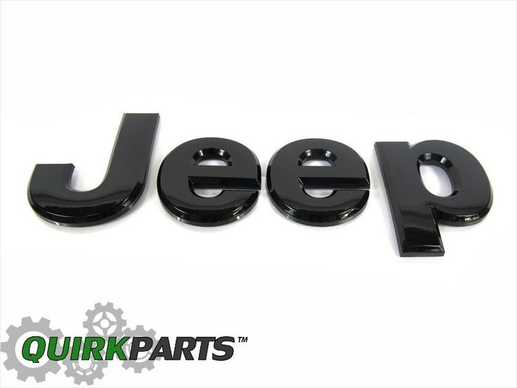 13-14 Jeep Grand Cherokee GLOSS BLACK JEEP HOOD EMBLEM NAMEPLATE OEM NEW MOPAR #MOPAR