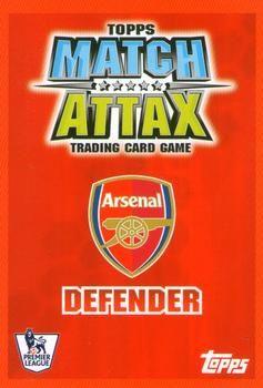 2007-08 Topps Premier League Match Attax #2 Bacary Sagna Back