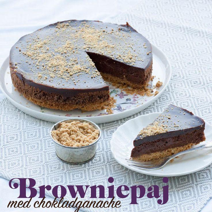En browniepaj fungerar både till fikat och som dessert!