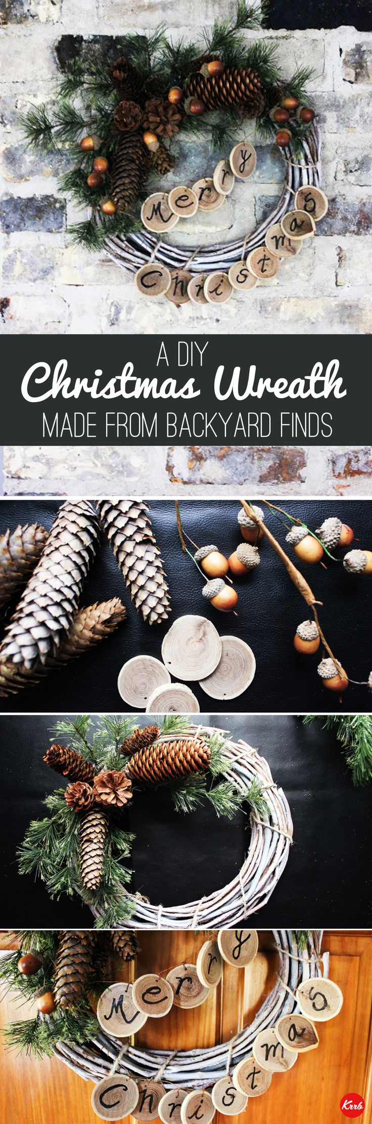Save money by using your home's natural resources to design a wreath!