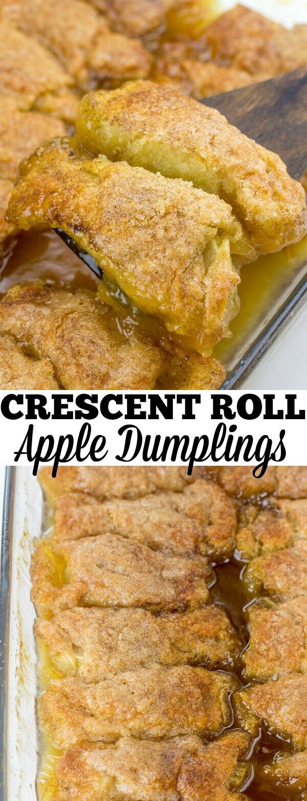 Easy, delicious and quick these Crescent Roll Apple Dumplings are a fun, simple tasty dessert that is perfect for absolutely any night of the week.