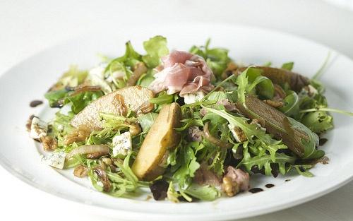 Prosciutto Salad Recipe: Fresh pears, Italian prosciutto, hazelnuts ...