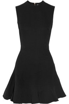 Victoria Beckham Silk and wool-blend crepe dress   THE OUTNET