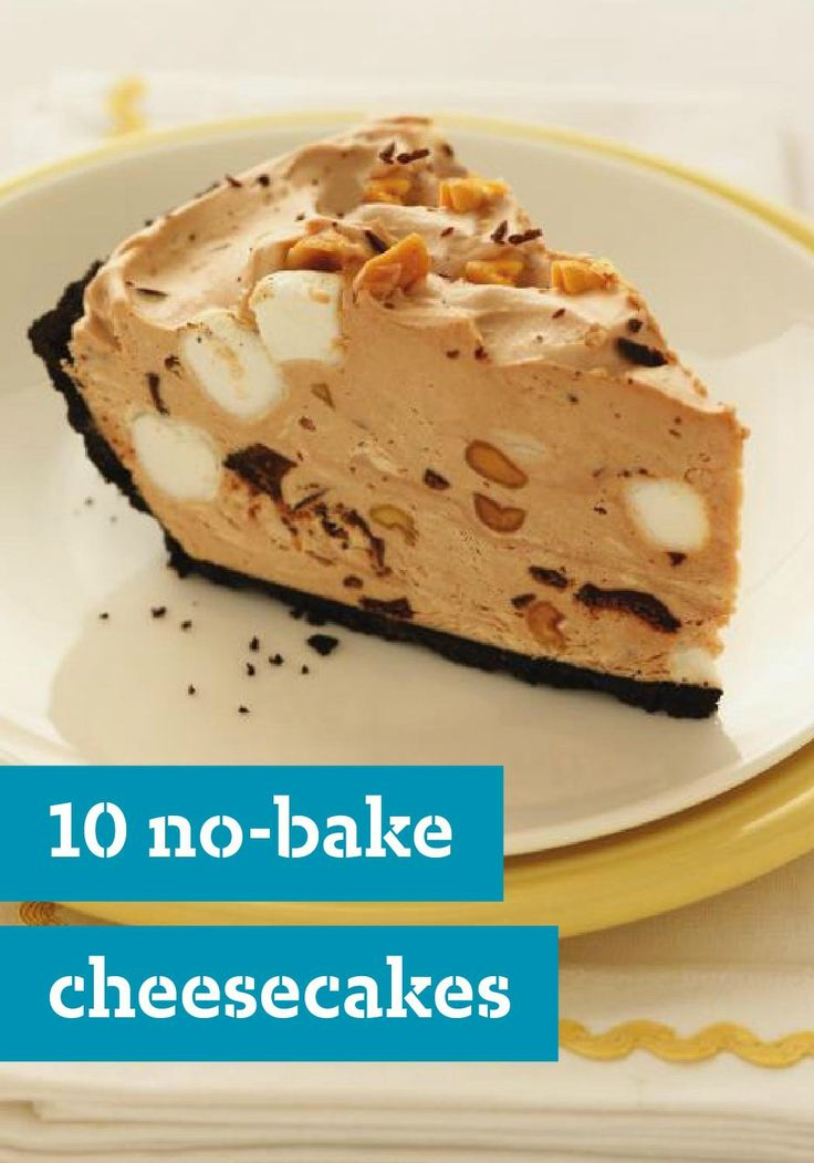 10 No-Bake Cheesecakes -- If you want a cheesecake but don't have time to bake, these no-bake cheesecake recipes are perfect. Enjoy dessert anytime you like with quick and easy no-bake dessert recipes by Kraft Foods.