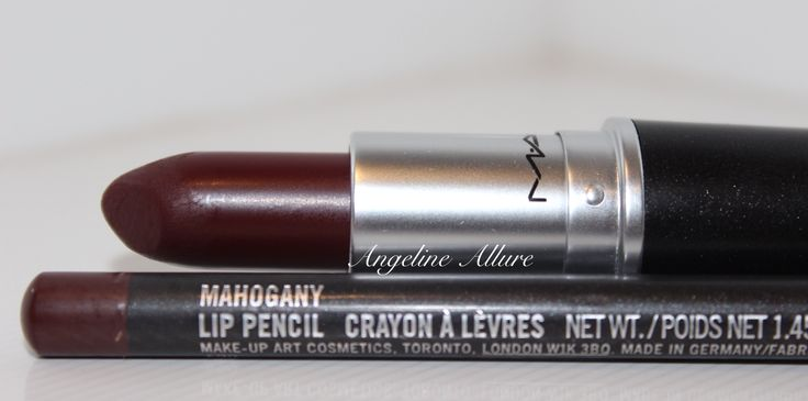 MAC SIN Lipstick MAC Mahogany Lip pencil  MAC Mahogany lip pencil is perfectly matched and blends well with the SIN lipstick. Check out my blog for full review! Link in Bio! www.angelineallure.net