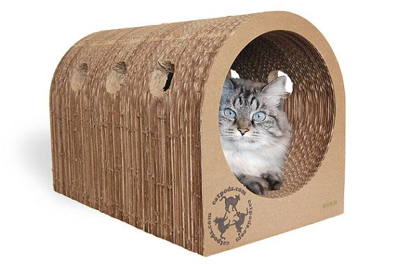 Eco-friendly Catpods™ are:  a sturdy and lasting scratching station great for rubbing their scent on playtime toy crouching spot zooming tunnel
