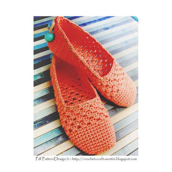 Zapatillas de encaje de coral/alpargatas por PdfPatternDesign                                                                                                                                                                                 Más