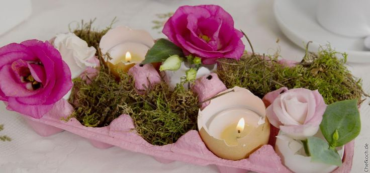 Hübsche Oster-Deko könnt ihr ganz einfach und kostengünstig selber machen. Im Video zeigen wir euch, was ihr aus einem Eierkarton zaubern könnt.