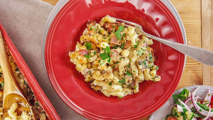 Gruyere, bacon, and truffles take comfort food to another level. Rachael's Ultimate Mac and Cheese