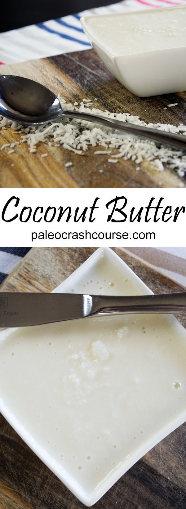 Making coconut butter at home is super easy! All you need is a food processor and some shredded coconut. The end result is a rich coconut butter that can be used for many things!
