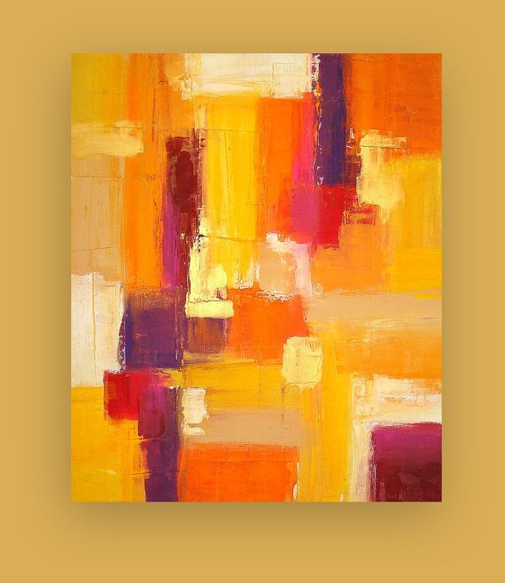 Painting Acrylic Abstract Art on Canvas Titled by OraBirenbaumArt, $345.00