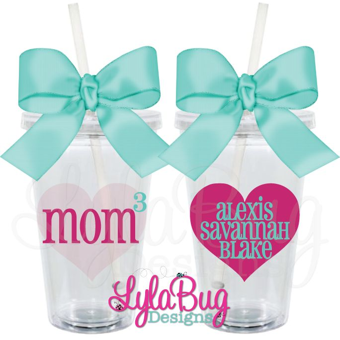 Mom Squared Personalized Acrylic Tumbler Mother S Day Gift