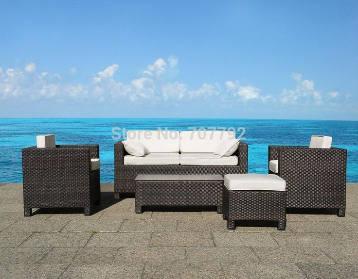 Wicker Furniture Lounge Milano Outdoor Sofa Set (Wicker)   Really Nice  Outdoor Funiture Set, Too Bad The View Doesnu0027t Come With It.