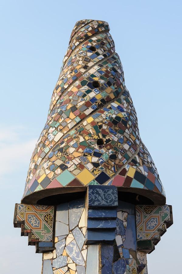Antoni Gaudi chimney by Frank Cornfield | Mosaics ...