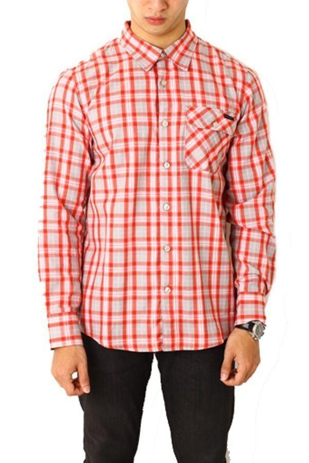 Edberth Shop Kemeja Pria - Merah - Int:XL