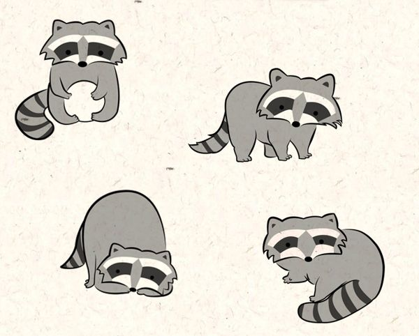 Raccoon Pattern by Laís Shiraishi, via Behance