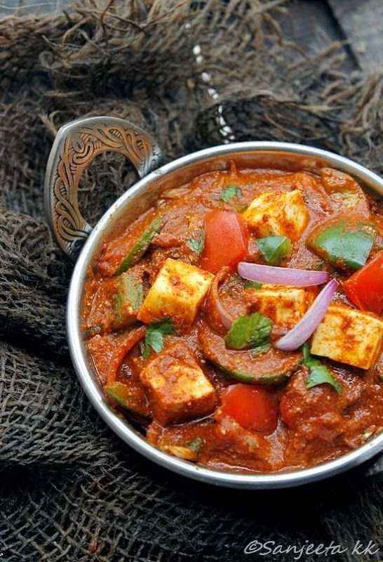 healthy kadai paneer recipes and food styling project