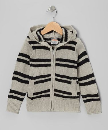 Take a look at this Gray Stripe Zip-Up Hoodie - Toddler & Boys by Urban Extreme on #zulily today!