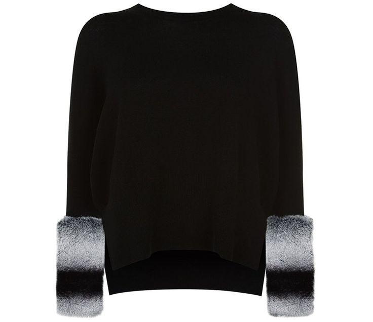 12 ярких меховых свитеров на каждый день
