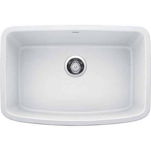 Blanco 27 Inch Valea Undermount Single Bowl Kitchen Sink White