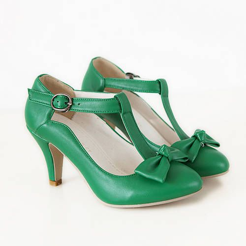 Green Shoes with Bow